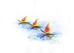 tiga perahu pembawa obor
